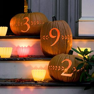 Address pumpkins - love this idea!