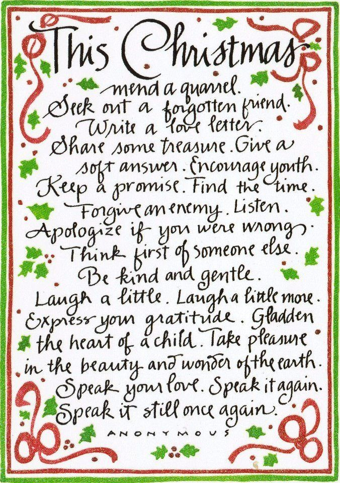 Here are things you can do to make this the best Christmas of your life.  Let love began with you.  Many blessings, Cherokee Billie