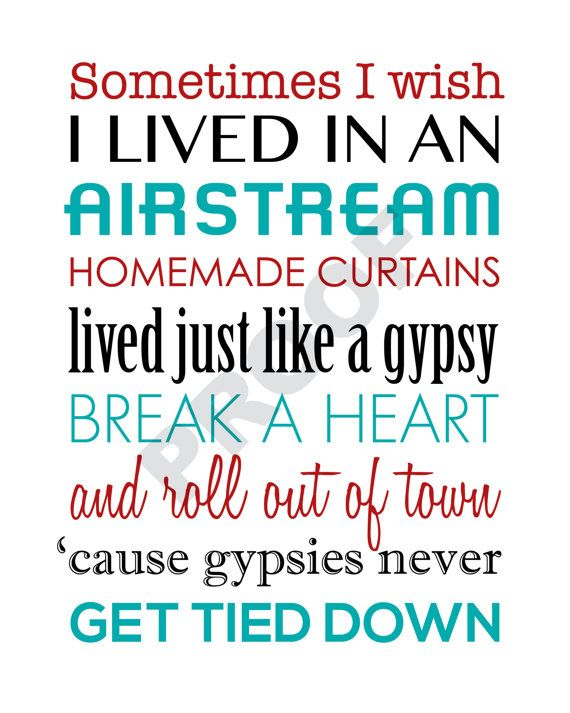 Printable MIRANDA LAMBERT Airstream Song Lyrics by JaydotCreative