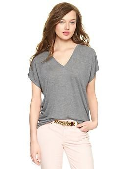 Fluid V-neck T | Gap