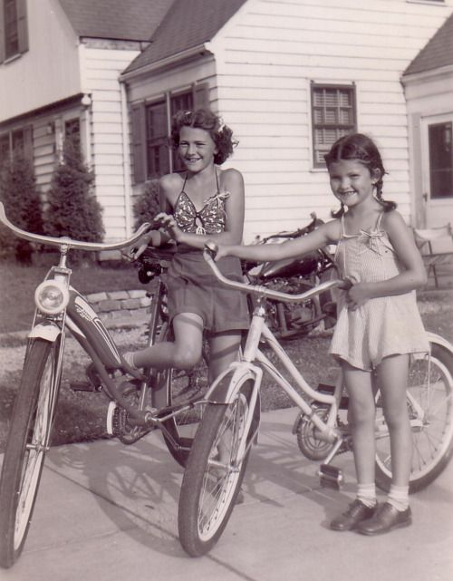 Remember when riding bikes was all the entertainment kids needed?... and we were thrilled to have a bike!