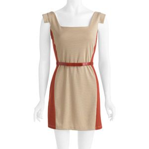 Stitch Women's Square Neck Belted Dress. Walmart is killing it lately...$17.88