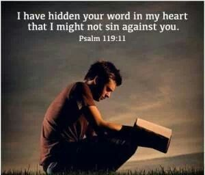 Keep gods word close to your heart