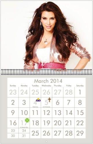 kim kardashian 2014 wall calendar on kim wall id=92753