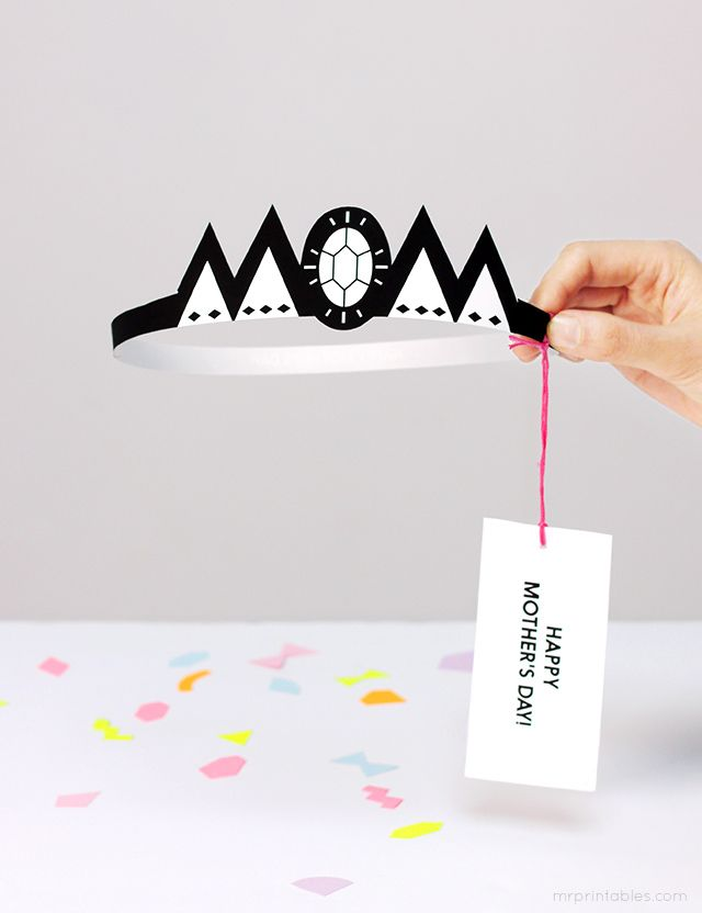 Lovely Crown -  Crown Mother's Day Card - Mr Printables