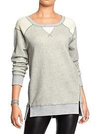 Women's Side-Zip Terry-Fleece Tunics