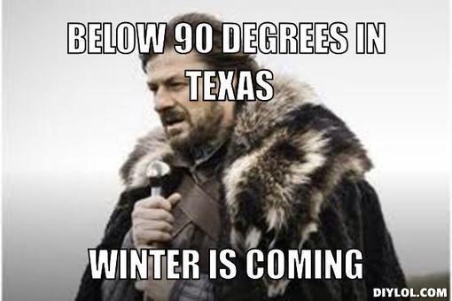 Pretty much. ❄ Texas winter summer