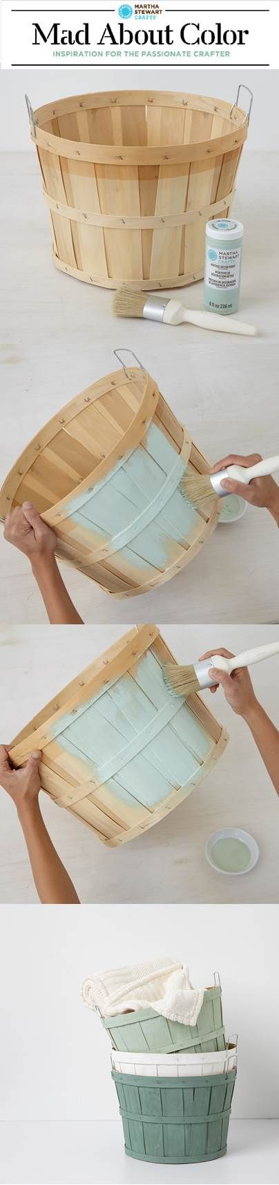 Customize orchard baskets with Vintage Decor! Such a great idea. #DIY #Customized #ForTheHome