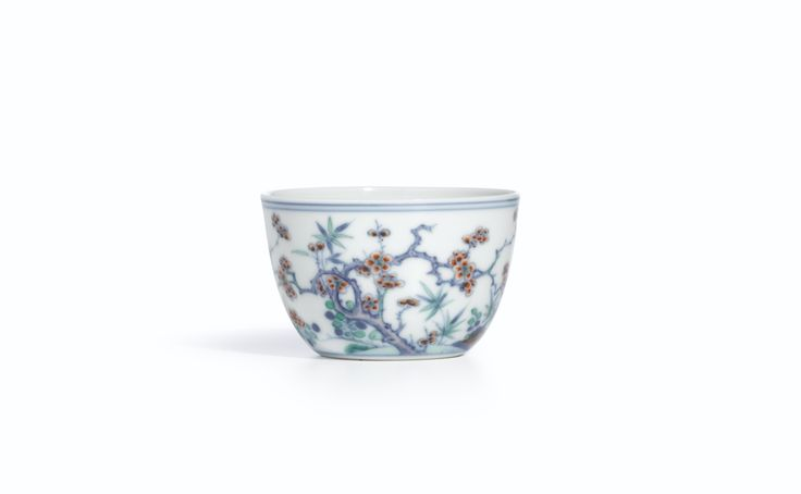 A FINE DOUCAI 'MAGPIES AND PRUNUS' CUP<br>MARK AND PERIOD OF YONGZHENG | Lot | Sotheby's