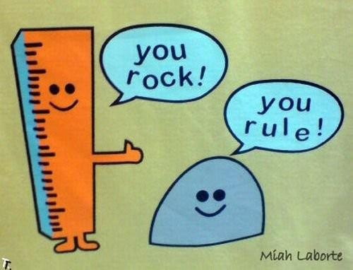 You rock, you rule! | On a Whim... | Pinterest
