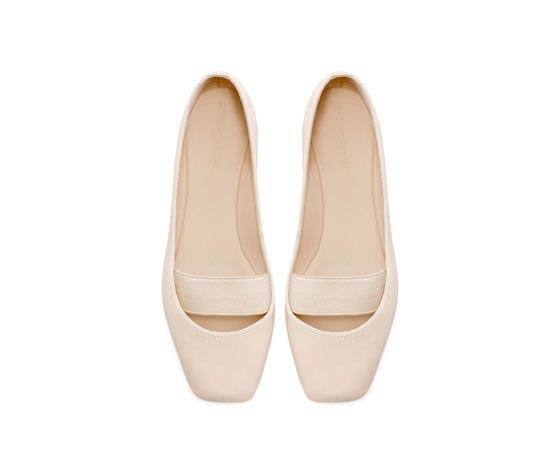 leather ballerina flats / zara