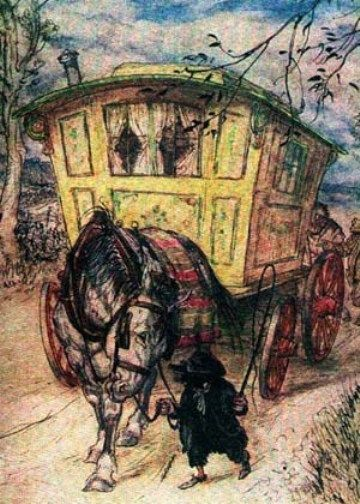 "Gypsy Living Traveling In Style| Serafini Amelia|  ""Wind in the Willows 3""  Arthur Rackham - Illustration"