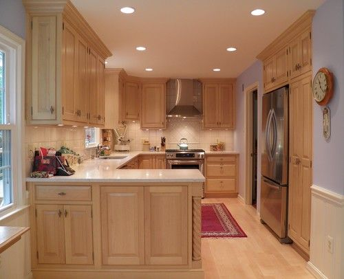 Maple Cabinets, light countertop | Dining/Kitchen | Pinterest on Countertop For Maple Cabinets  id=84120
