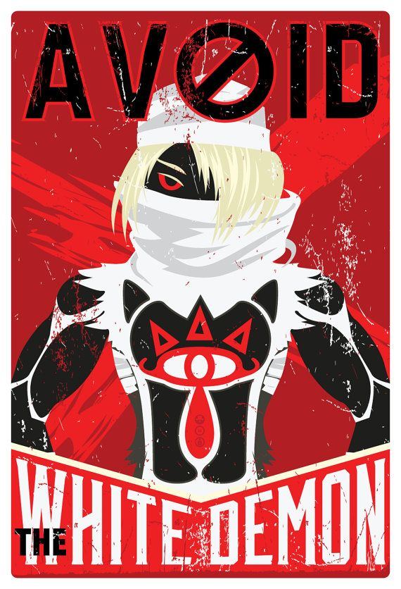 Avoid the White Demon 15 x 22. via Etsy.