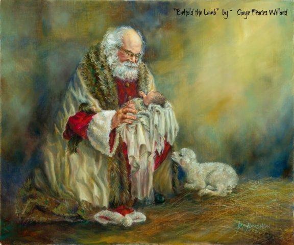 Santa Holding Christ Child Santa Pinterest
