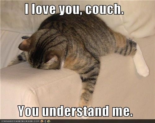 Sampson could rock this couch position.