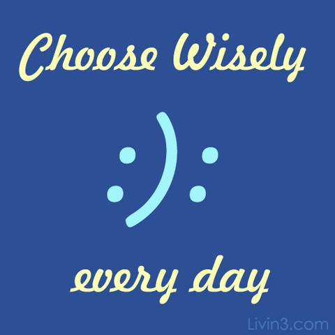 Choose Happiness! All Day Everyday Motivational Poster