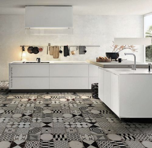 Patchwork tiles! Patches for every part of your home Handmade tiles can be colour coordinated and customized re. shape, texture, pattern, etc. by ceramic design studios
