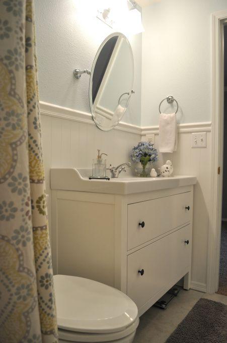 ikea s hemnes vanity done well baño pinterest on ikea bathroom vanities id=78829