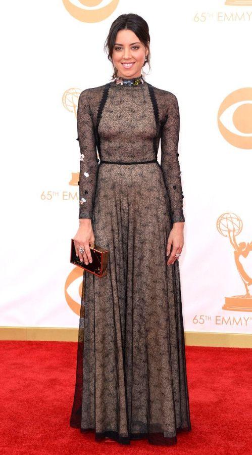 Aubrey Plaza from 2013 Emmys: Red Carpet Arrivals | E! Online