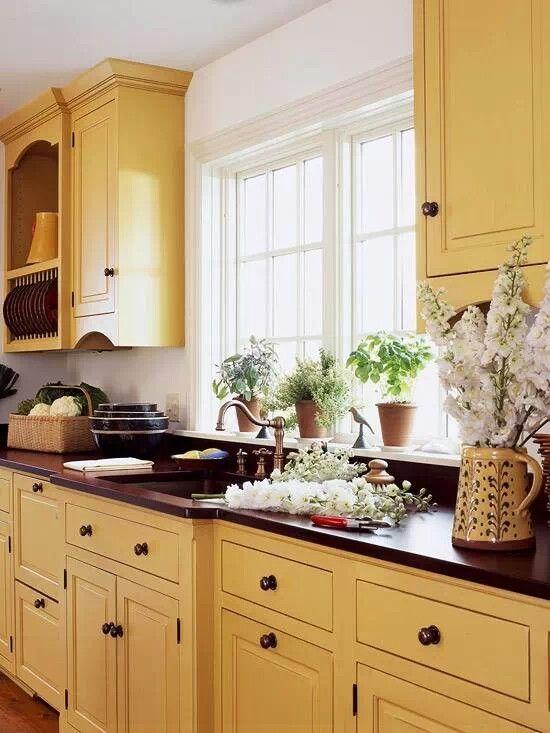 yellow kitchen kitchens pinterest on kitchen yellow id=86352