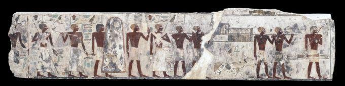 Relief de la tombe du nomarque Djehoutyhotep II. Procession de porteurs d'offrandes - © Londres, The British Museum