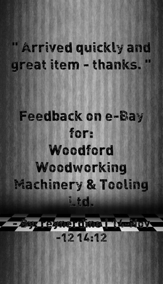 Feedback on eBay for woodfordwm. Arrived quickly and great item
