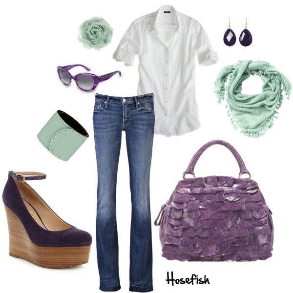 Mint & Purple, created by hosefish on Polyvore