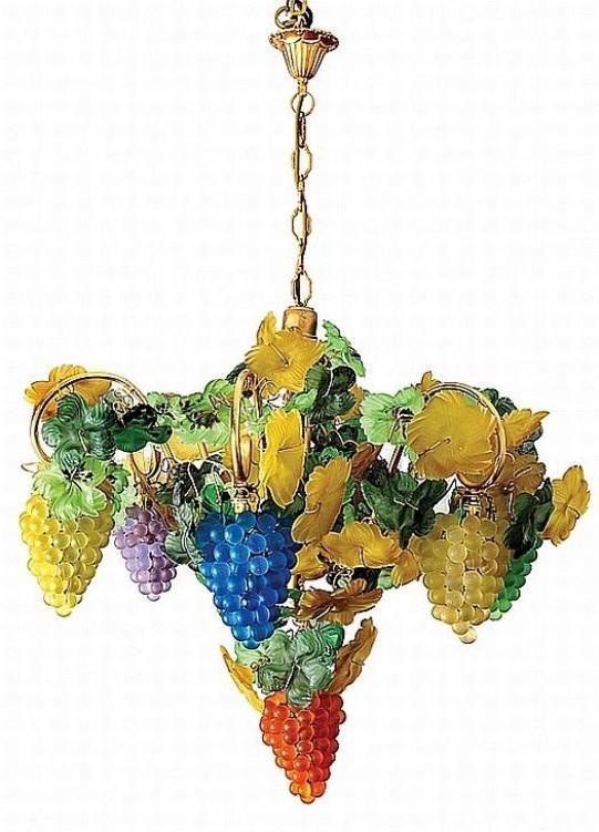 Italian glass grapes chandelier.