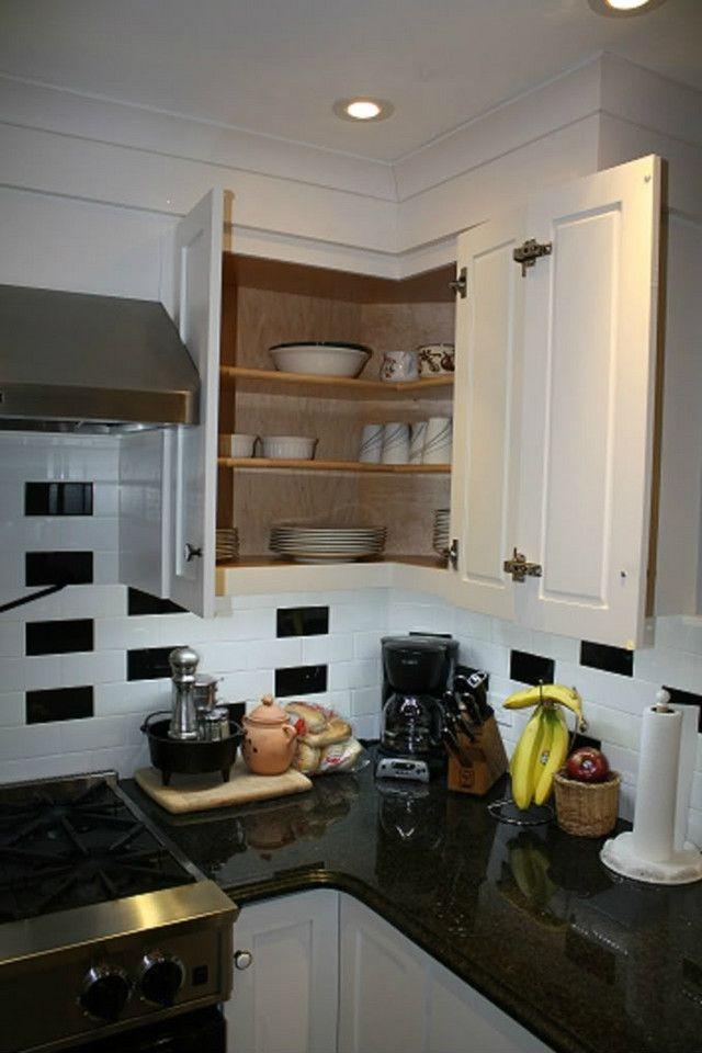 upper corner cabinet solution kitchen ideas pinterest on kitchen cabinets upper id=72871