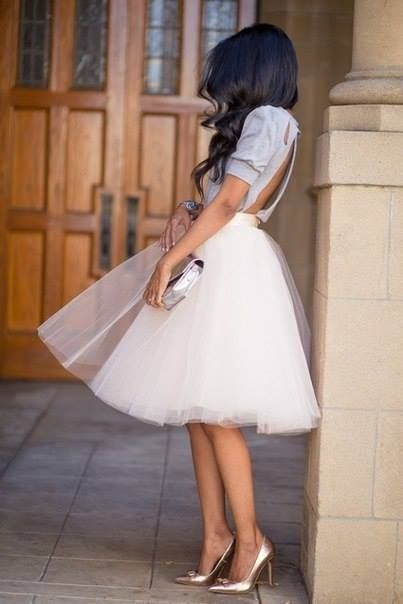 What a cute look to dress up a tutu and make it fancy