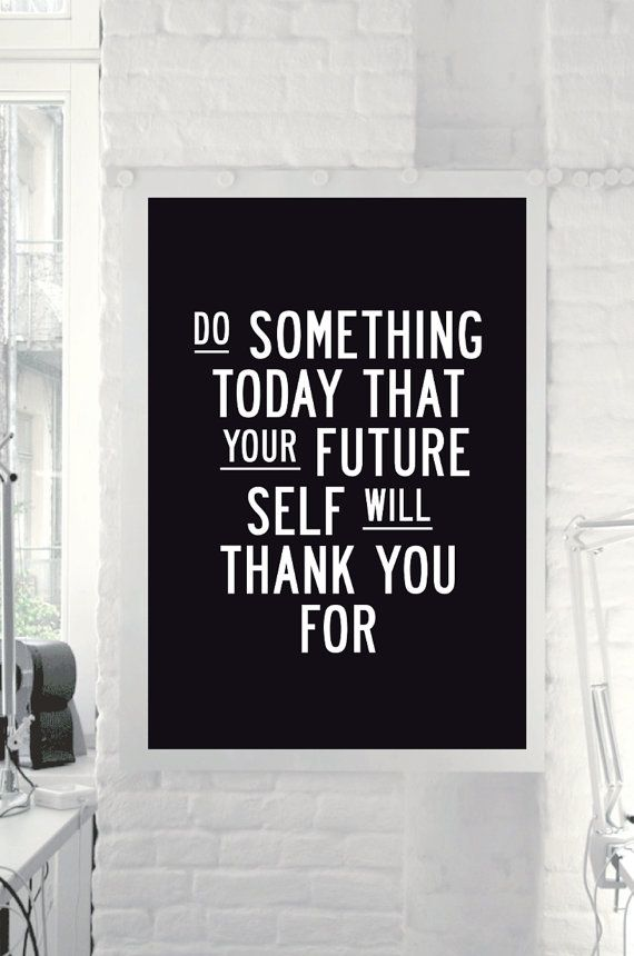 "Inspirational Quote Motivational Print ""Do Something Today"" Black & White Subway Art Style Typography Print Wall Decor PRINTABLE DOWNLOAD on Etsy, $9.00"