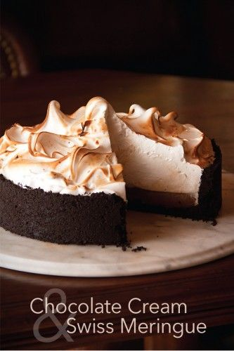 Chocolate Cream Pie with Swiss Meringue @Greg Henry | Sippity Sup