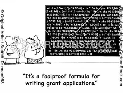 'It's a foolproof formula for writing grant applications.'  If only there were such a thing! #grantchat