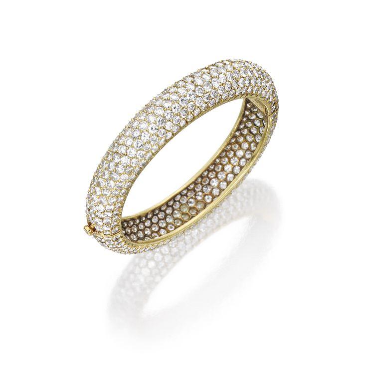 18 Karat Gold and Diamond Bracelet, Van Cleef & Arpels | Lot | Sotheby's