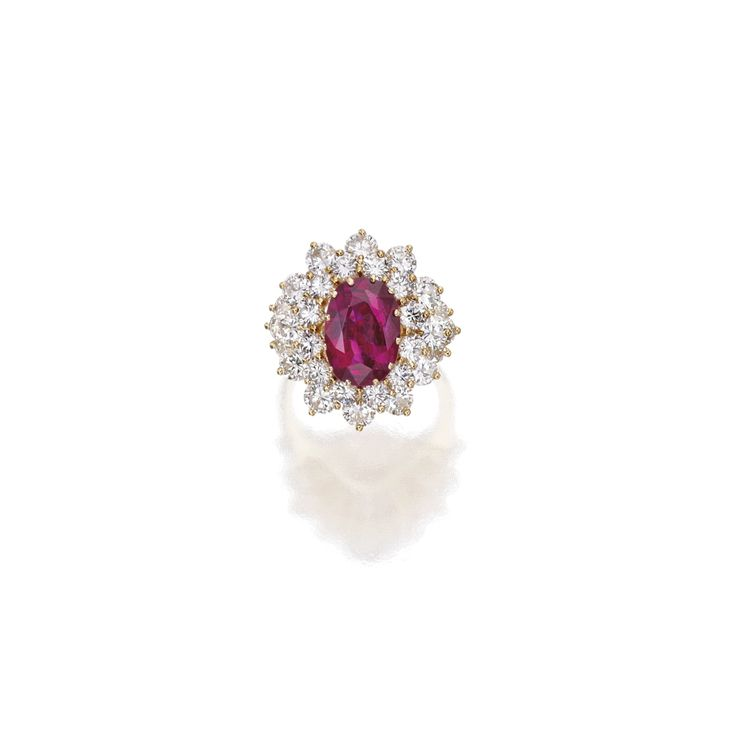 18 Karat Gold, Ruby and Diamond Ring | Lot | Sotheby's