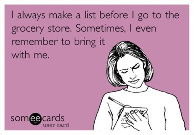 SO glad other people do this!  Countless times I have gone to the store pulled out my coupons and realized I left my list at home!  ARGH