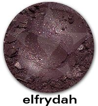 Elfrydah- A deep heathered russet with multicolor interference shimmer and bright sparks of rose and copper. #aromaleigh #mineralmakeup