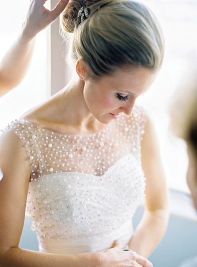 gorgeous pearl gown