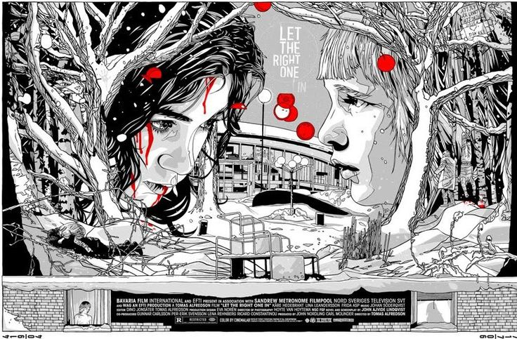 "Beautiful ""Let the Right One In"" poster, really captures the film I think. http://bloody-disgusting.com/news/21463/"