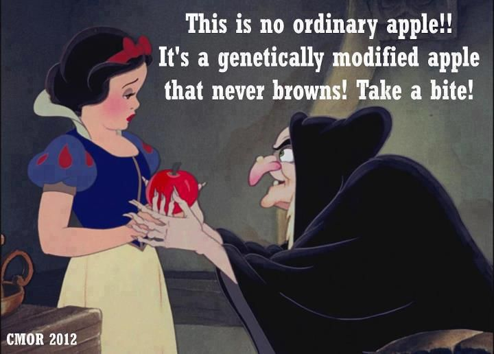 This is no ordinary apple! it's a genetically modified apple that never browns! take a bite! | Anonymous ART of Revolution