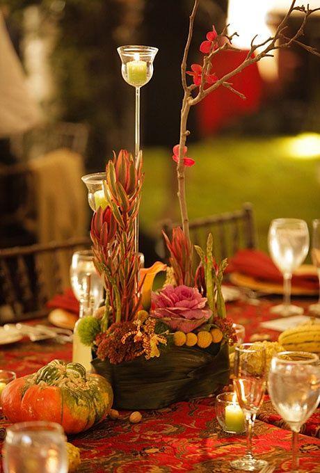 table decorating...fall wedding