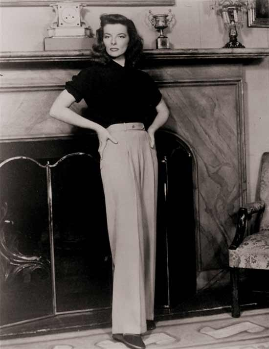 Katharine Hepburn Wears the Pants