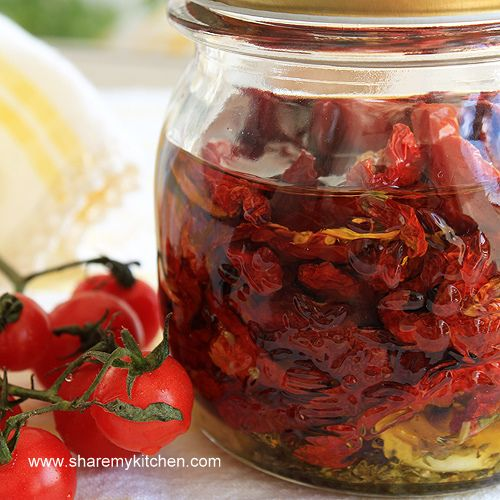 Here is another pantry staple you can make on your own – the sun-dried tomatoes. Either in olive oil, seasoned, or plain, they add a distinctive touch and great flavor to many dishes and salads. Making your own sun-dried tomatoes is very simple and certainly is much less expensive than buying them at the grocery store.  Follow the link for more info & method.