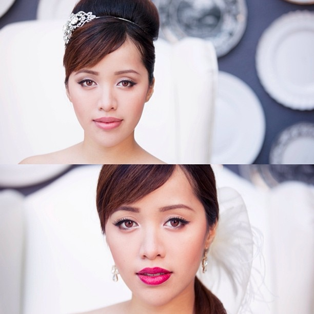 2 wedding makeup looks