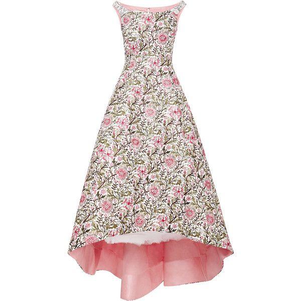 Oscar de la Renta Embellished Floral Brocade Gown found on Polyvore