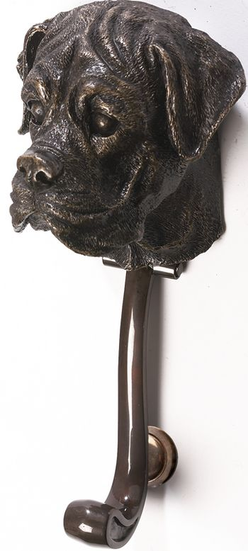 Boxer Dog Front Door Knocker : Black Country Metalworks Ltd