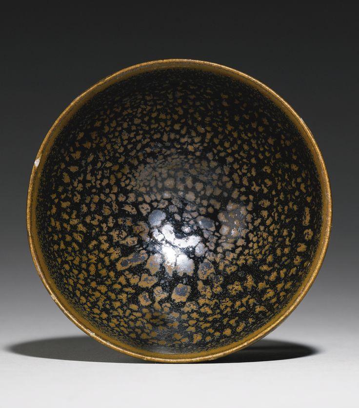 A russet-splashed black-glazed bowl , Northern Song Dynasty