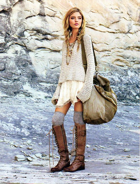 OMG! These boots! The perfect, effortless, bohemian style that captures pretty much everything I have ever wanted in an outfit!