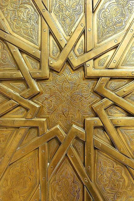 Brass door, Royal Palace in Fes Morocco